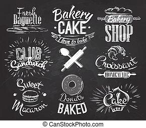 tiza, panadería, caracteres