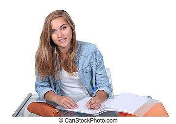 tizenéves, írás