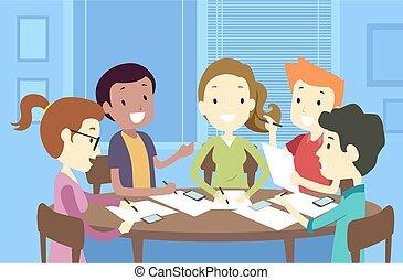 tizenéves kor, írás, ábra, csoport
