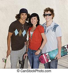 tizenéves kor, skatepark