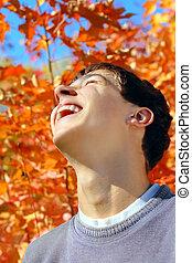 tizenéves, rejoices, ősz