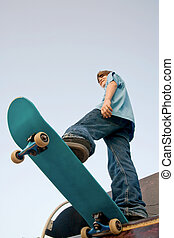 tizenéves, skateboarding
