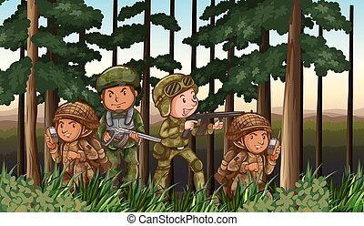 tjäna som soldat