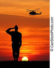tjäna som soldat, hos, krig
