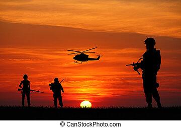tjäna som soldat, krig