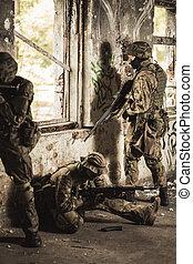tjäna som soldat, på, a, utbildning