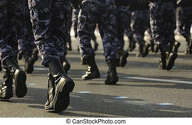 tjäna som soldat, på, den, mars