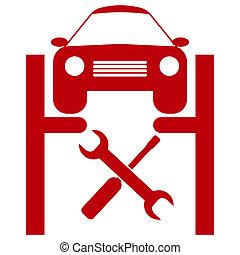 tjänste- bil, ikon