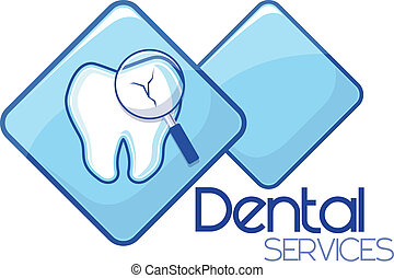 tjänsten, dental, design, diagnos