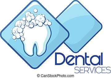 tjänsten, dental, design, rensning