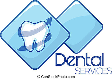 tjänsten, dental, vektor, design, omsorg