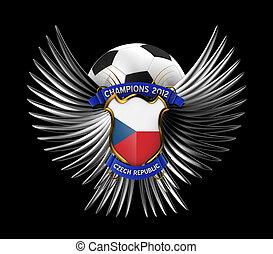 tjeck, fotboll, republik, boll