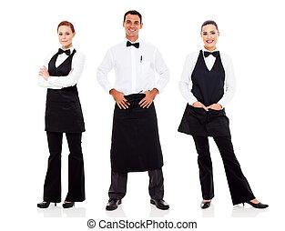 tjener, og, servitrice