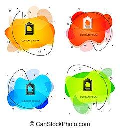 tjeneste, kontrakt, isoleret, baggrund., ansøgning, væske, composition., vektor, dokument, shapes., abstrakt, hvid, form, ikon, banner, dannelse, hus, oprettelse, sort