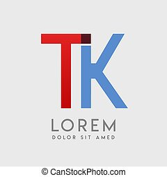 TK logo letters with blue and red gradation