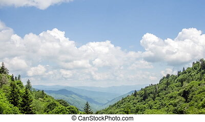 TL Great Smoky Mountains - A time lapse of clouds moving...