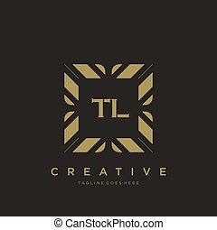 TL initial letter luxury ornament monogram logo template vector art