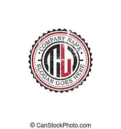 TL initial logo inspirations, vintage badge logo design, letter logo template
