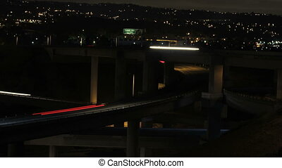 TLP-0002 freeway interchange cu - This is a time lapse shot...