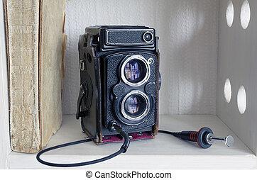 TLR camera - vintage TLR photo camera with external shutter ...