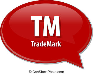 TM acronym word speech bubble illustration