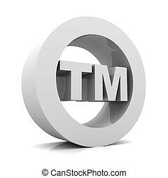 tm trade mark sign concept 3d illustration - tm trade mark...