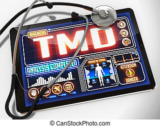 TMD Diagnosis on the Display of Medical Tablet.