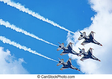 tn, demostración, thunderbirds, 2011, usaf