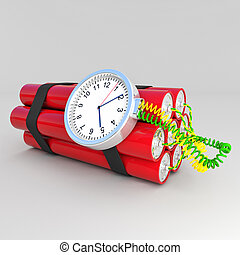tnt bomb - 3d image of time bomb