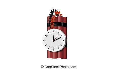TNT Explosive Time Bomb Ticking Exp