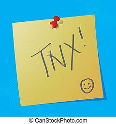"""tnx handwritten nessage - """"tnx"""" handwritten acronym message..."""