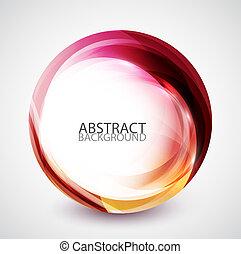 točit se, abstraktní, kruh, energie