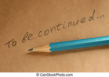 Inscription on a paper, made by a pencil