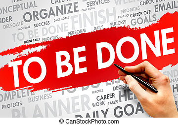 TO BE DONE word cloud, business concept