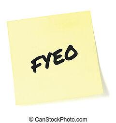 to-do, クローズアップ, 情報, 敏感, initialism, あなたの, 大きい, 上, 分類された, newsletter, 機密性, メモ, セキュリティー, 詳しい, メモ, オペレーション, 隔離された, 付せん, 黄色, 頭字語, 概念, インフォメーション, 黒, 書かれた, 通知, ポストそれ, リスト, テキスト, 文書, クローズアップ, メッセージ, 秘密, ブレティン, 省略, (opsec), 目, fyeo, プライバシー, ∥たった∥, マーカー, 比喩, マクロ, 機密, 秘密, 手紙, ステッカー
