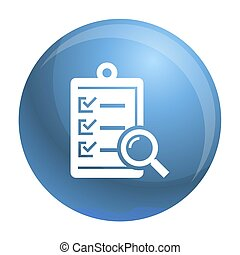 To do check list icon, simple style