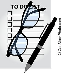 To do check list. Planning concept. Simple flat design top view.