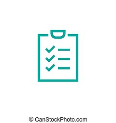 To-do check list with ticks and points. Clipboard with check marks. Blue