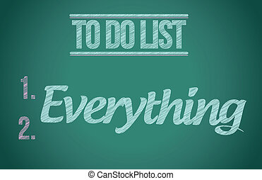 to do everything. to do list illustration