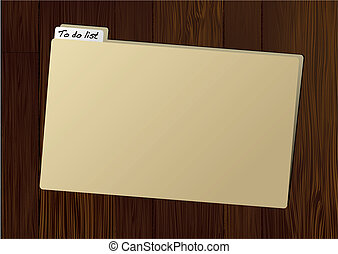 to do folder - Brown folder with to do tag on wooden table