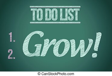 to do list grow concept illustration design