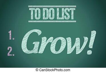 to do list grow concept illustration design