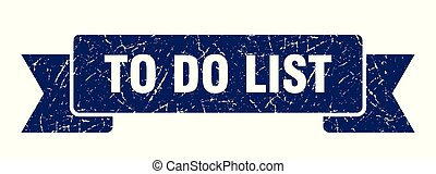 to do list grunge ribbon. to do list sign. to do list banner