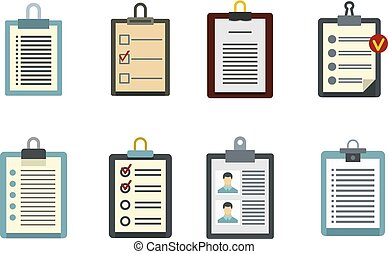 To do list icon set, flat style - To do list icon set. Flat ...