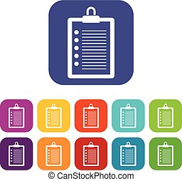To do list icons set vector illustration in flat style in ...