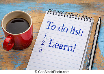 To do list in a notebook - learn