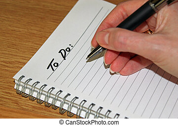 To do list - Lined paper ready to write a to do list