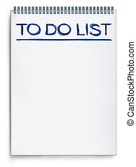 To do list on a notepad representing things to do when...