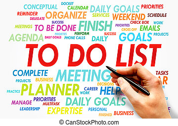 TO DO LIST word cloud, business concept