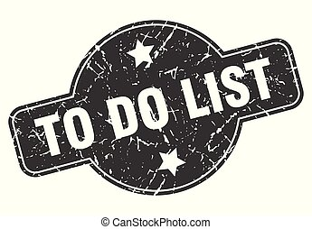 to do list round grunge isolated stamp